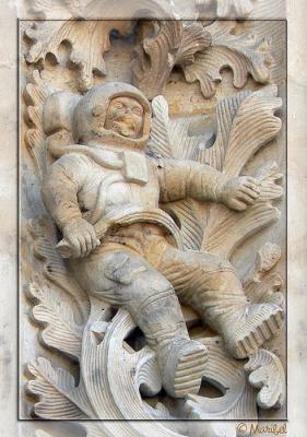 ¿Hay un astronauta esculpido en la Catedral de Salamanca?